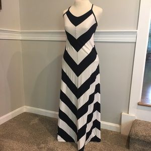 Navy and white maxi dress Gap Sz.xs